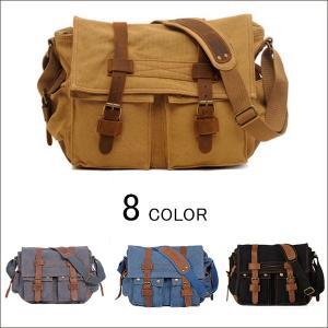 ショルダーバッグ ビジネスバッグ メンズ レディース 斜めがけ 肩掛け 帆布バッグ 大容量 通勤 通学 出張 旅行 軽量 アウトドア iPad|viva-v1