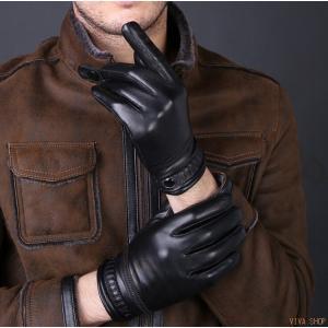 レザーグローブ 手袋 メンズ レザー 革 防寒 本革 バイク グローブ ライダース バイカー フォーマル バイクグローブ サイクリング 自転車|viva-v1