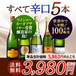 送料無料 当店人気 ワインセット スパークリングワイン 5本...