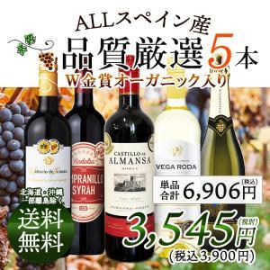ワインセット ワイン産地ごとに楽しもう♪スペイン産 赤白泡バラエティワイン 5本セット A