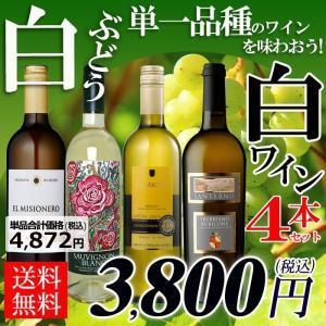 ワインセット 白ブドウ単一品種のワインを味わおう! 白4本セ...
