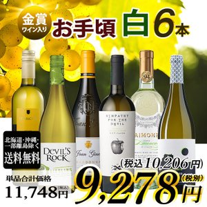 ワイン ワインセット 金賞受賞ワイン入り 白ワイン 6本セッ...