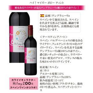 ワイン ワインセット 送料無料 かわいいワインボトルのワインセット ハイマイズーとオーガニックワイン 赤白4本セット 赤ワイン 白ワイン 辛口|viva-vino|02