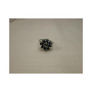 シルバーリング  イタリア製 花 16号 青白