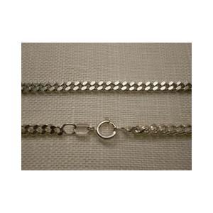 スペン製アクセサリーで喜平2面カットのシルバーチェーン銀製925 70センチのでロングネックレスです...