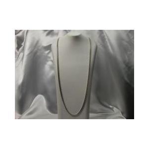 ネックレス スペイン製シルバーアクセサリー ネックレス 喜平2面カットチェーン 70cm|vivace-yokohama