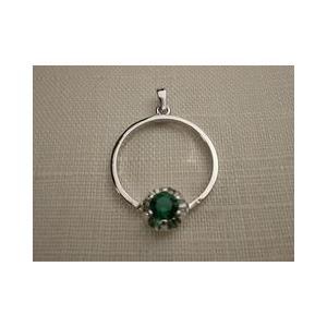 シルバーペンダントトップ スペイン製 指輪 エメラルド|vivace-yokohama