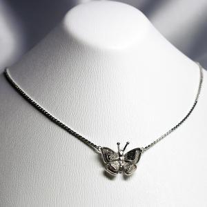 シルバーネックレス スペイン製 ビンテージ 蝶 2枚羽根|vivace-yokohama