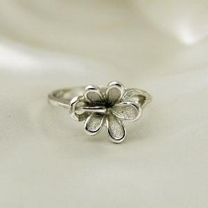 シルバーリング スペイン製 花|vivace-yokohama