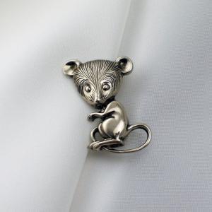 ドイツ製 可愛いマウス タックピンブローチ |vivace-yokohama