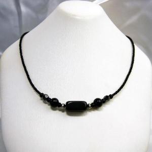 ネックレス アクセサリー 天然石 オニキス 黒|vivace-yokohama