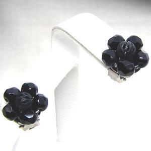 イヤリング フランス製 ブラック クリップ マーガレット 黒 |vivace-yokohama