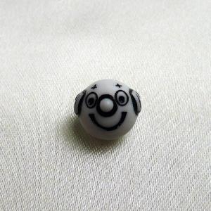 DIYビーズ ドイツ製 アクリルビーズ モノクロ ピエロ小 白黒|vivace-yokohama