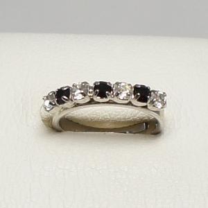 デザインリング フリーサイズ ドイツ製 スワロフスキー 一文字 カラー:ガーネット&ダイヤモンド|vivace-yokohama