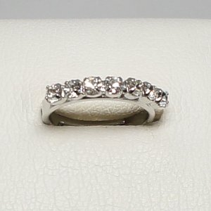 デザインリング フリーサイズ ドイツ製 スワロフスキー 一文字 カラー:ダイヤモンド|vivace-yokohama