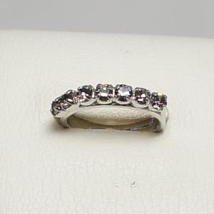 デザインリング フリーサイズ ドイツ製 スワロフスキー 一文字 カラー:ブラックダイヤモンド|vivace-yokohama