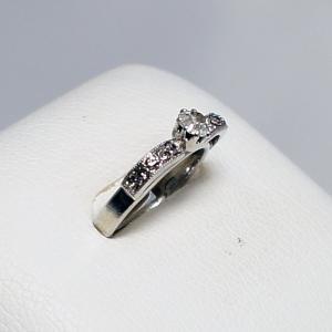 デザインリング フリーサイズ ドイツ製 スワロフスキー カラー:ダイヤ&ブラックダイヤ vivace-yokohama