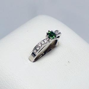 デザインリング フリーサイズ ドイツ製 スワロフスキー カラー:エメラルド&ダイヤモンド vivace-yokohama