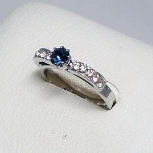 デザインリング フリーサイズ ドイツ製 スワロフスキー カラー:サファイア&ダイヤモンド vivace-yokohama
