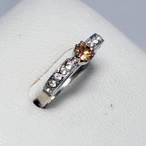 デザインリング フリーサイズ ドイツ製 スワロフスキー カラー:トパーズ&ダイヤモンド vivace-yokohama