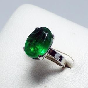 リング フリーサイズ ドイツ製 スワロフスキー グリーン 楕円 vivace-yokohama