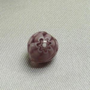 ベネチアングラスビーズ モザイコ イタリア製DIYミルフィオーリー 8mm 紫  vivace-yokohama