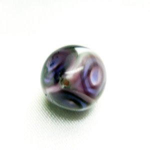 ビーズ イタリア製ベネチアングラスビーズ 8面 12mm 紫|vivace-yokohama