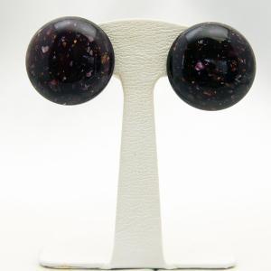 イヤリング クリップ 円形 イタリア製 板バネ 黒|vivace-yokohama