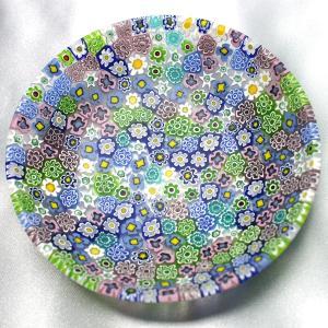 ベネチアングラス 皿 (中) ミルフィオーリ (パステル) イタリア製 モレッティ社|vivace-yokohama