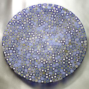 ベネチアングラス 皿 (大) ミルフィオーリ (紺系) イタリア製 モレッティ社|vivace-yokohama