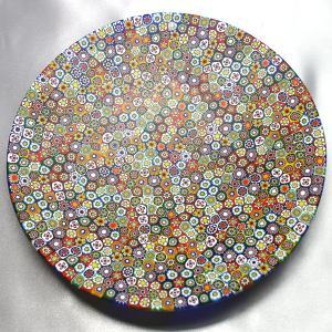 ベネチアングラス 皿 (大) ミルフィオーリ (マルチ) イタリア製 モレッティ社|vivace-yokohama