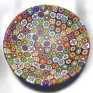 ベネチアングラス 皿 (小) ミルフィオーリ (マルチ) イタリア製 モレッティ社|vivace-yokohama
