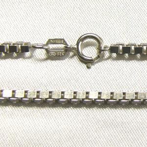 純銀ネックレス スペイン製シルバー925 ベネチアンチェーン純銀ネックレス 60cm|vivace-yokohama