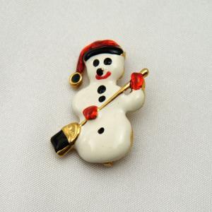 アメリカ製雪だるまのブローチ vivace-yokohama