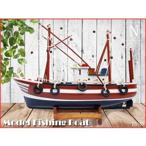 木製模型 船 タグボート 32cm ヨット 船の置物 マリンオブジェ|vivaenterplise