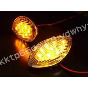 バイク汎用 LEDウインカー カウル貼付 汎用LEDウインカー クリア左右 x14|vivaenterplise