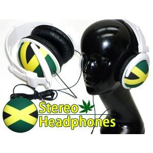 ファッション・コーデのポイントに♪■iPhone・スマホに♪POPな ヘッドフォン 【ジャマイカ】 ステレオヘッドホン☆|vivaenterplise