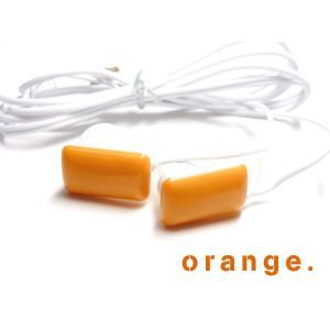 POPで可愛い♪ 本物のお菓子みたいなガム型イヤホン【オレンジ 】 iPhone/スマホ/パソコンに☆ vivaenterplise