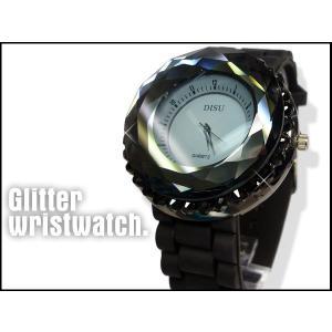 インパクト大★可愛くてオシャレ★レディース キラキラ腕時計 ブラック ☆|vivaenterplise