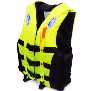 ライフジャケット SOSホイッスル笛付き フローティングベストM.Lサイズ 蛍光イエロー|vivaenterplise