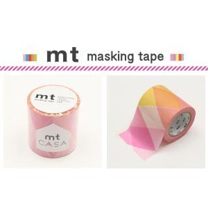 マスキングテープ カモ井加工紙 mt CASA 50mm 三角とダイヤ・ピンク