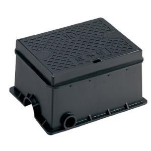 SANEI ホースを付けたまま使用できる屋内外の散水栓用ボックス散水栓ボックス 床面用 ブラック R81-9-D vivaldistr
