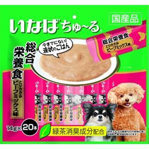 いなば 犬用おやつ ちゅ~る 総合栄養食 とりささみ ビーフミックス味 14g×20本入|vivaldistr