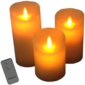 COM-SHOT 3個 セット ワイヤレス LED キャンドル ライト リモコン 付き 揺れる 炎 を演出 イベント パ vivaldistr