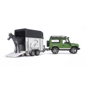 ブルーダー Land Rover Def.ワゴン&馬牽引トレーラー BR02592|vivaldistr