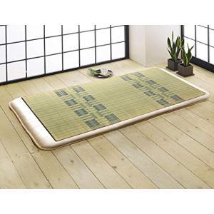 イケヒコ シーツ い草シーツ 寝ござ 国産 『阿蘇』 ブルー シングル 約88×180cm(熊本県八代産い草使用) 6506809|vivaldistr