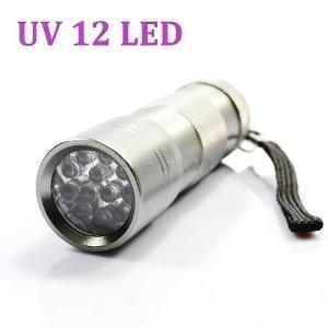 ブラックライト UV 紫外線ライト 12LED (シルバー)|vivaldistr