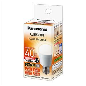 パナソニック LED電球 口金直径17mm 電球40W形相当 電球色相当(4.3W) 小型電球・下方向タイプ 1個入 密閉形器具対応 LDA|vivaldistr