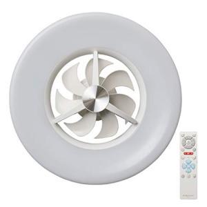 CIRCULIGHT(サーキュライト) LED シーリングサーキュレーター 6畳 調光タイプ シンプルリモコン付き ドウシシャ ホワイト D vivaldistr
