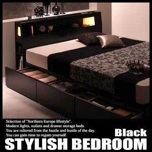 ベッド シングルベッド 収納付きベッド フレームのみ|vivamaria